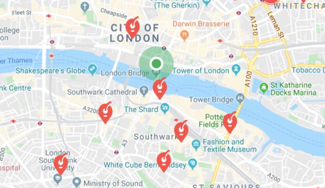 Consignes bagages London Bridge