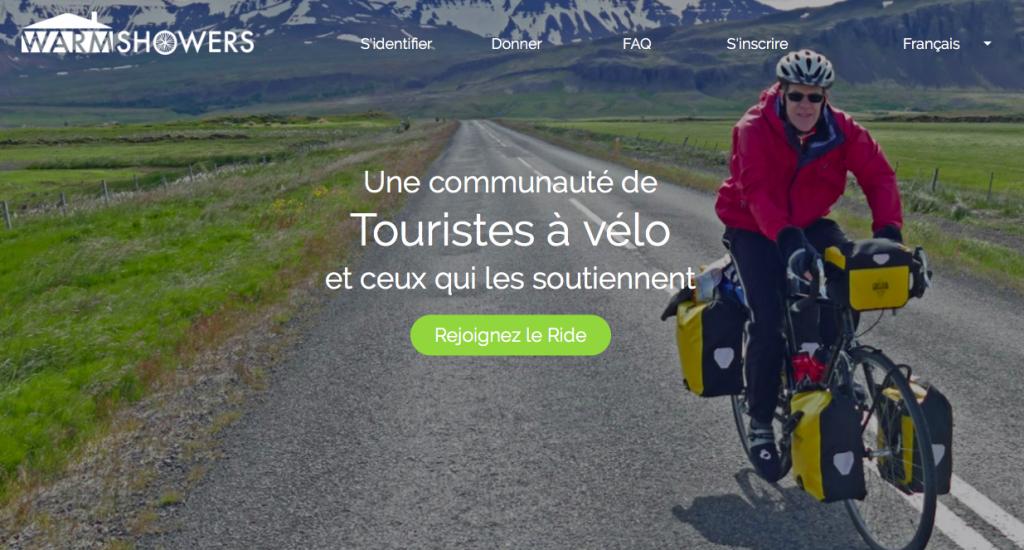Application voyage hébergement cyclistes