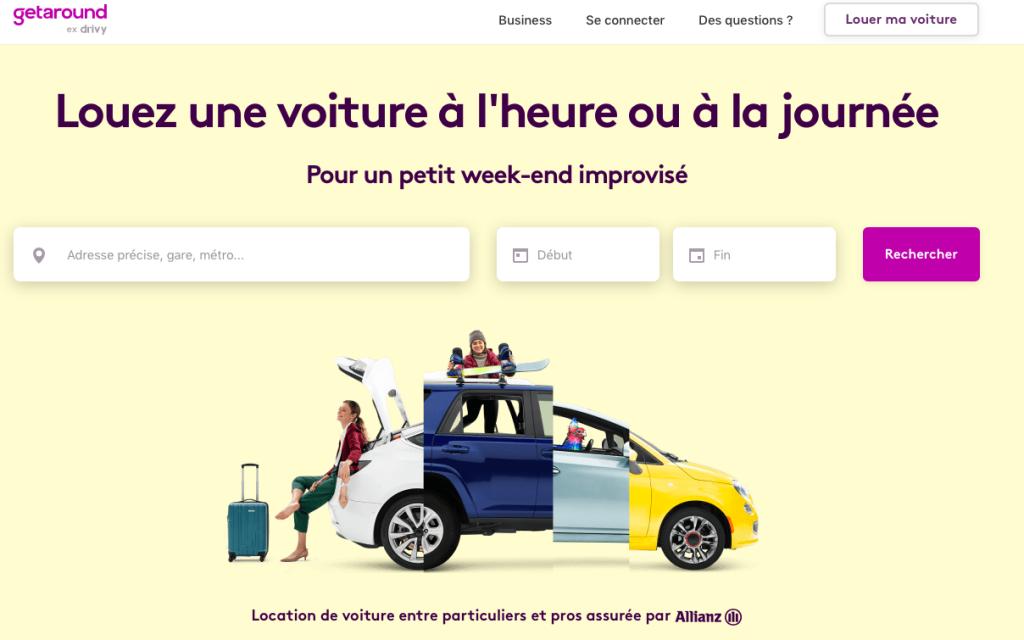 Application voyage location de voitures