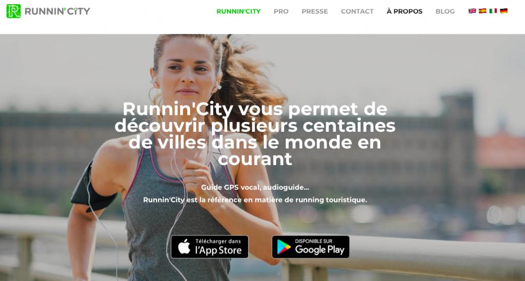 Application voyage et running