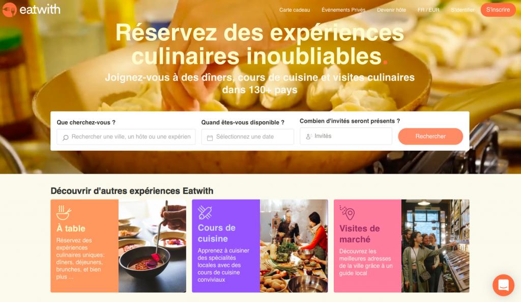 Application voyage gastronomie
