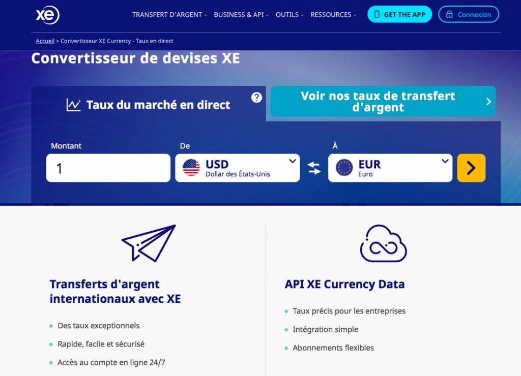 Application convertisseur monnaie